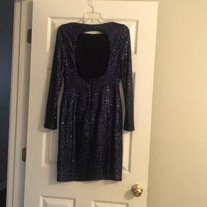 Ralph Lauren sequin dress. Open back!